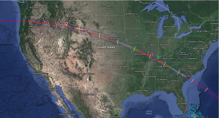 Nasa Interactive Solar Eclipse Map.The Great American Eclipse Stars4all
