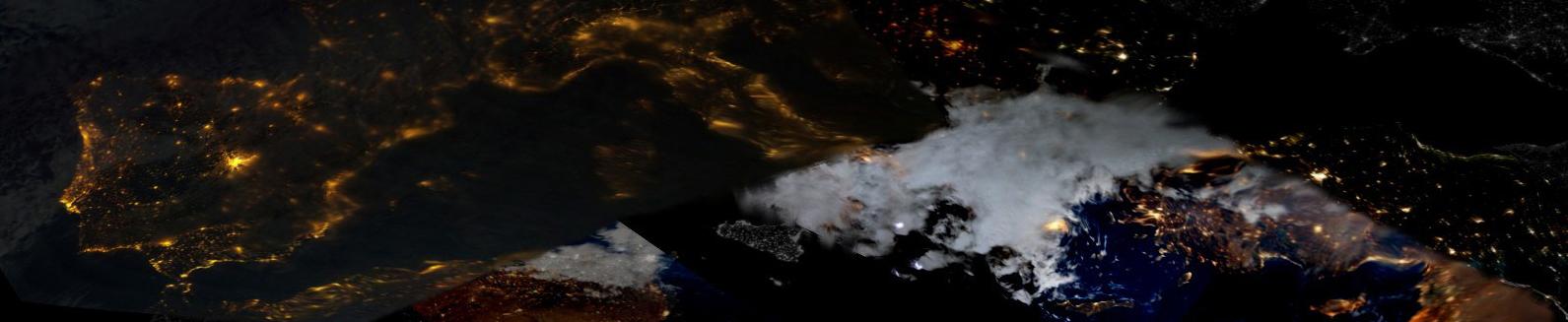 Europa de noche desde el espacio