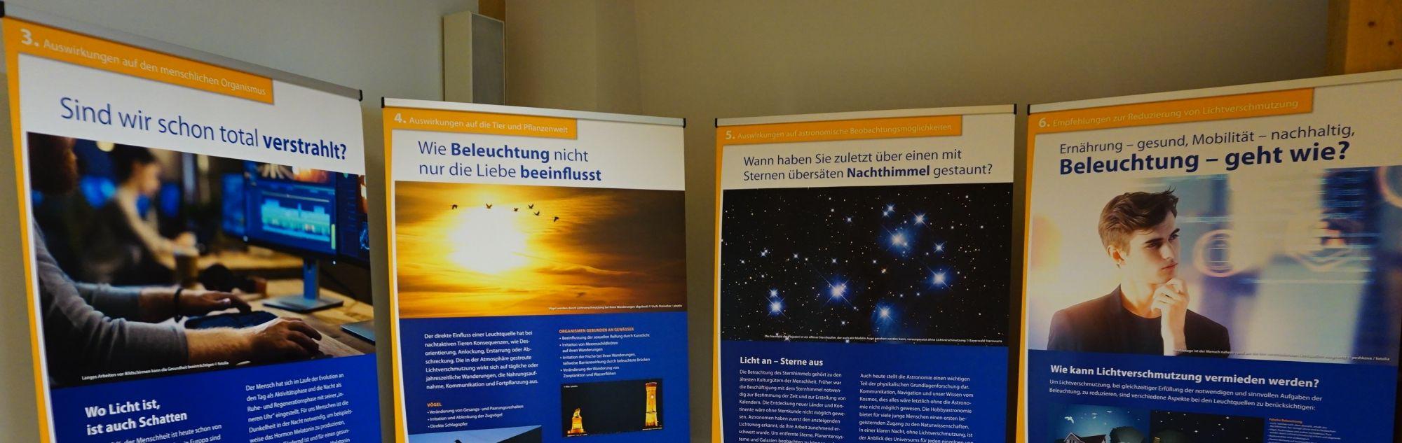 Exposición Parque Natural Bayerischer. Contaminación lumínica - Proceso común Wald